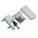 Петля регулируемая дверная VHS 3-D цинк 105 мм 9016 белая
