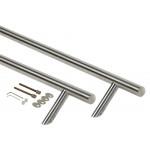 Ручка для алюминиевых дверей со смещением, L=1200, межосевое расстояние=1000, D=32