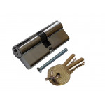 Цилиндр замка двухсторонний, ключ 30х30  Lider-Lock никель