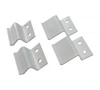 Крепления москитных сеток z-образные металлические (4 шт) белые