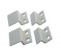 Крепления москитных сеток z-образные пластиковые (4 шт) белые