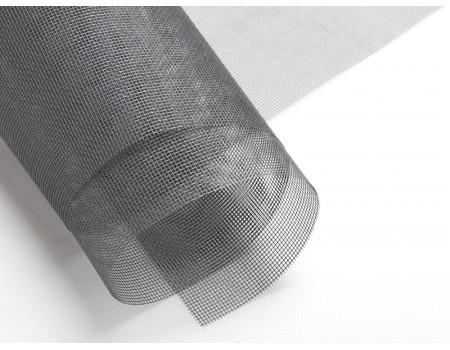 Полотно москитной сетки стекловолокно фибергласс, цвет серый, шир. 1,6 м