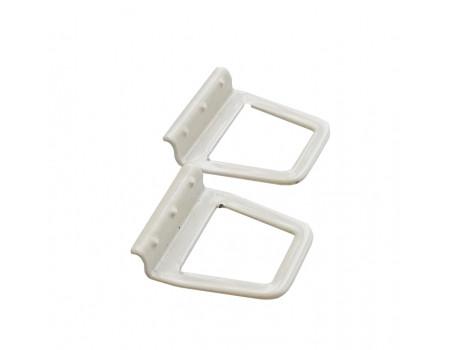 Ручки москитной сетки металлические под шнур, 2 шт, цвет белый