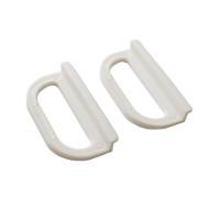 Ручки москитной сетки пластиковые под шнур, 2 шт, цвет белый