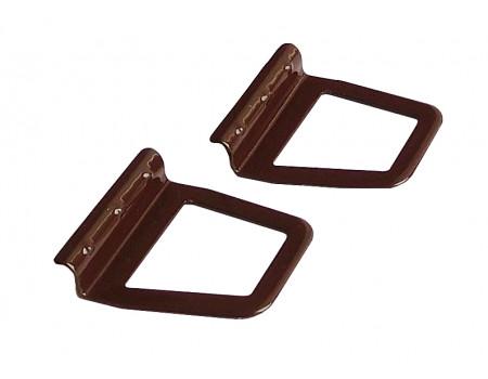 Ручки москитной сетки металлические под шнур, 2 шт, цвет Коричневый