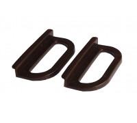 Ручки москитной сетки пластиковые под шнур, 2 шт, цвет Коричневый