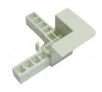 Угол для вставной москитной сетки система VSN белый
