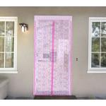 """Москитная сетка """"Цветочный узор"""" на магнитной ленте, цвет розовый"""