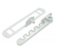 Гребенка оконная для алюминиевых окон Vertex белая, металл