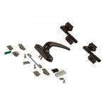 Комплект поворотный V.01 (ручка, петли, запоры, микровентиляция), коричневый RAL8019
