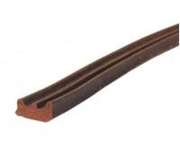 Уплотнитель самоклеящийся Е-профиль 9х4мм коричневый