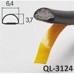 Уплотнитель SCHLEGEL Q-LON 3124 для дверей и шкафов купе черный