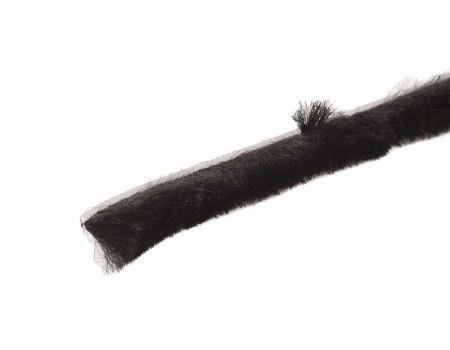 Уплотнитель щеточный 8х15мм для москитной сетки, черный
