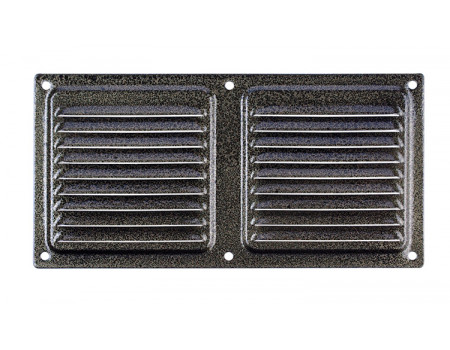 Вентиляционный клапан Двервент дверной 400 х 100 мм, цвет бронза