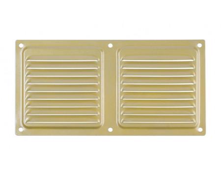 Вентиляционный клапан Двервент дверной 400 х 100 мм цвет золото