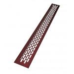 Вентиляционная решетка 480х60 мм бордовый