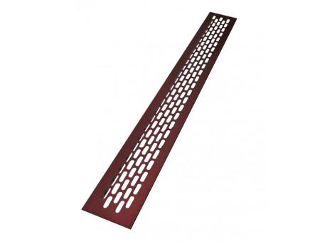 Вентиляционная решетка SETE для подоконника 480х60 мм бордовый