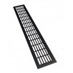 Вентиляционная решетка для подоконника 480х80 мм черная