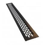 Вентиляционная решетка SETE для подоконника 480х60 мм черная
